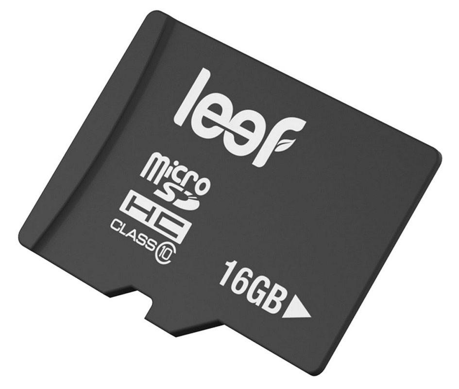 Paměťová karta Leef 16GB microSDHC class10, 10MB/s s adaptérem