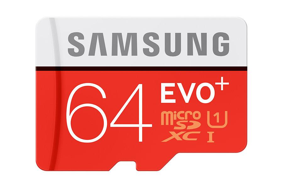 Micro SDHC 64GB Samsung EVO PLUS + adaptér
