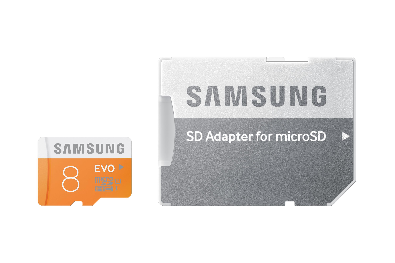 Paměťová karta Samsung 8GB Micro SDHC class 10, 48MB/s s adaptérem