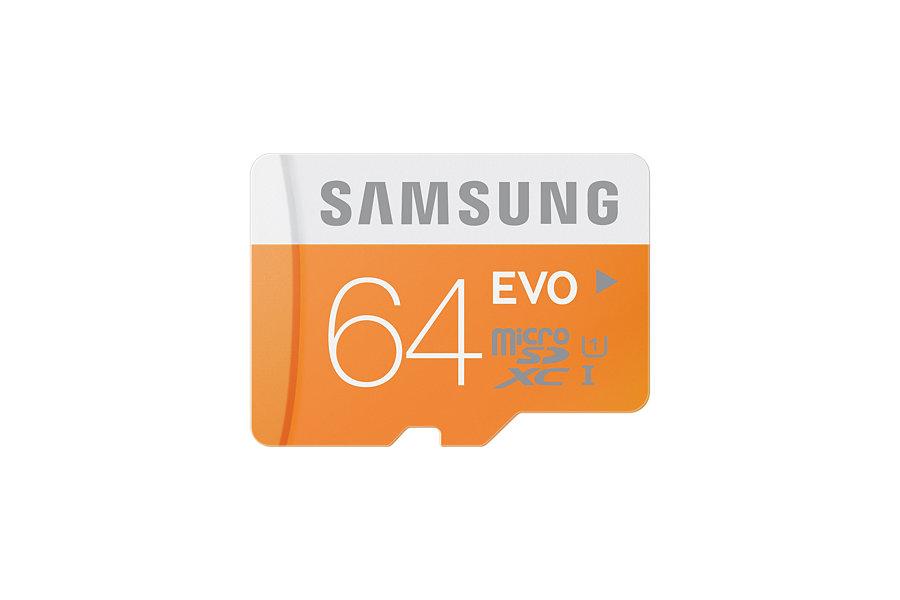 Paměťová karta Samsung 64GB microSD Class10, 48MB/s s adaptérem