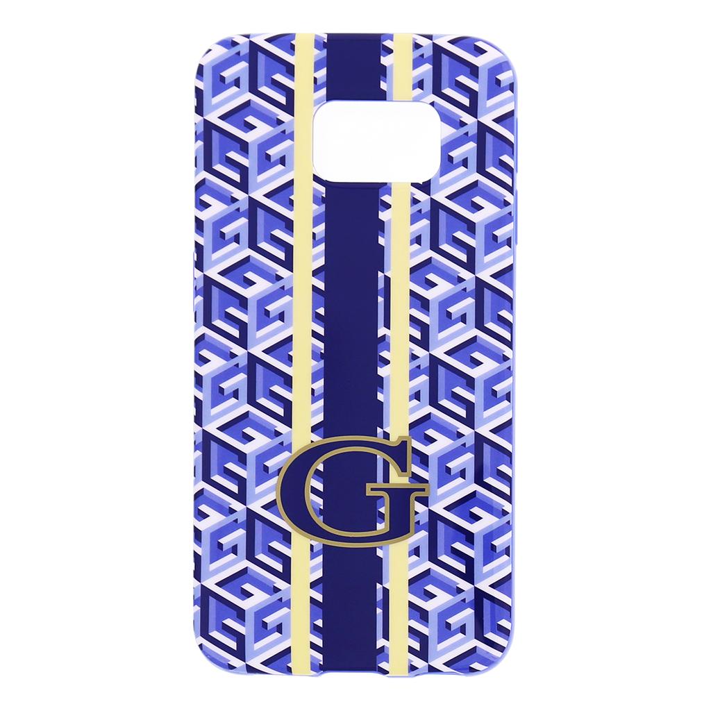 Zadní kryt na mobil Samsung Galaxy S6 Edge Guess G-Cube GUHCS6EGCUBL modré