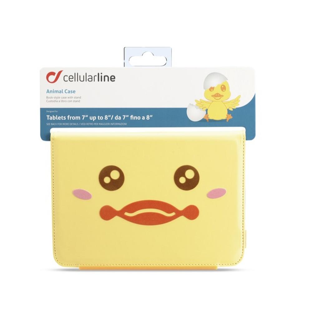 """Pouzdro pro tablety 7""""- 8"""" CellularLine Animal Case kuře"""