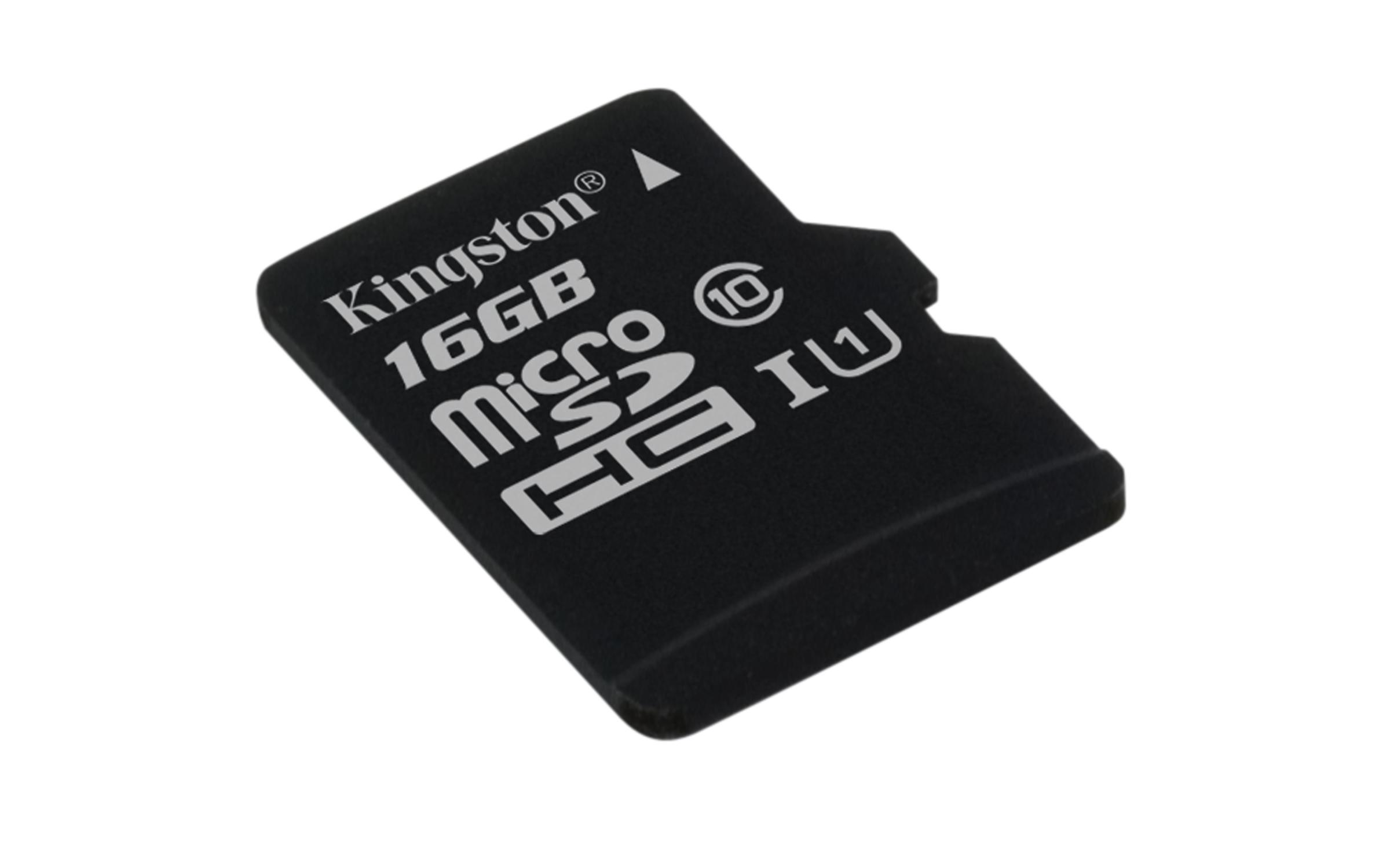 Paměťová karta KINGSTON 16GB Micro SDHC, class 10 45R/10W (bez adaptéru)