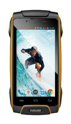EVOLVEO StrongPhone Q8 LTE Yellow - Black