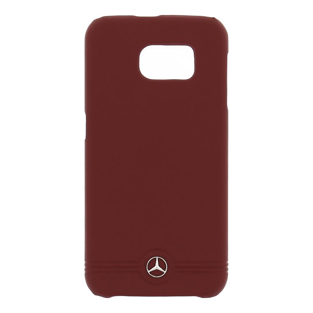 MEHCS6EMSRE Zadní kryt Mercedes Grill Samsung Galaxy S6 červený