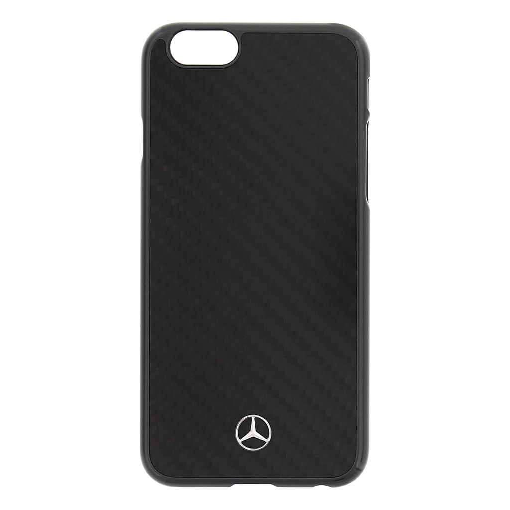 MEHCP6RCABK Zadní kryt Mercedes Real Carbon iPhone 6/6S černý