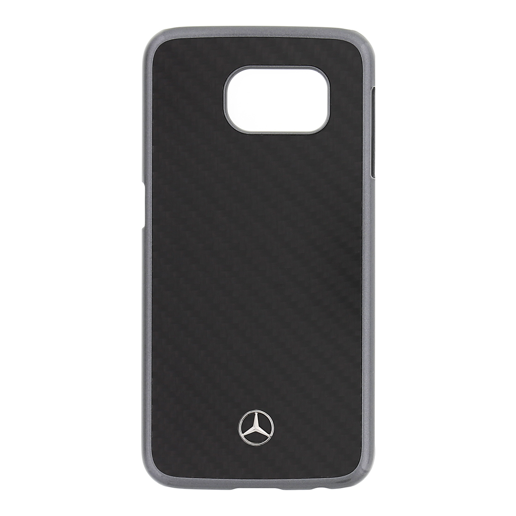 MEHCS6RCABK Zadní kryt Mercedes Real Carbon Samsung Galaxy S6 černý