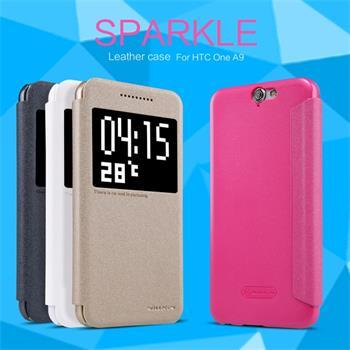 Flipové pouzdro Nillkin Sparkle S-View pro HTC ONE A9 bílé
