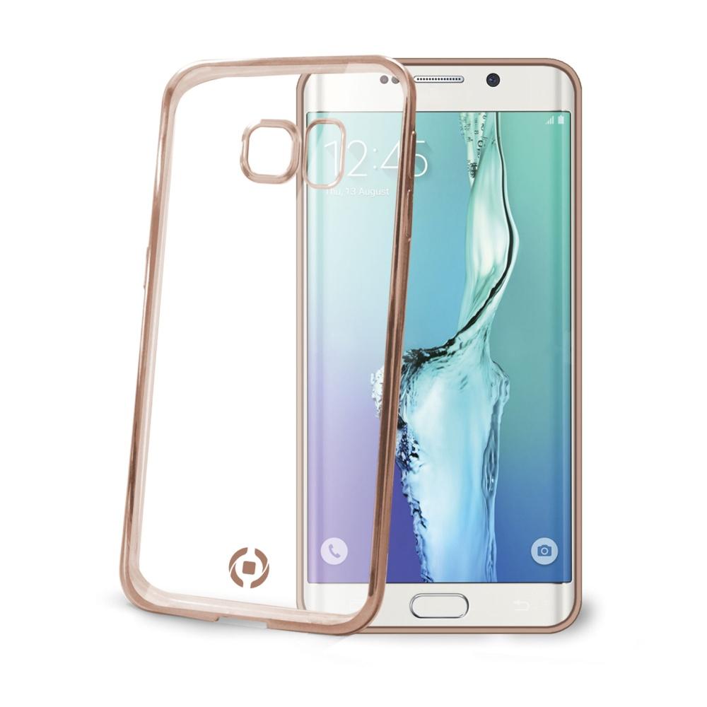 Pouzdro CELLY Laser na Samsung Galaxy S6 Edge zlaté