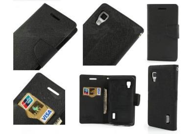 Pouzdro na mobil Mercury Fancy pro Microsoft Lumia 640 černé