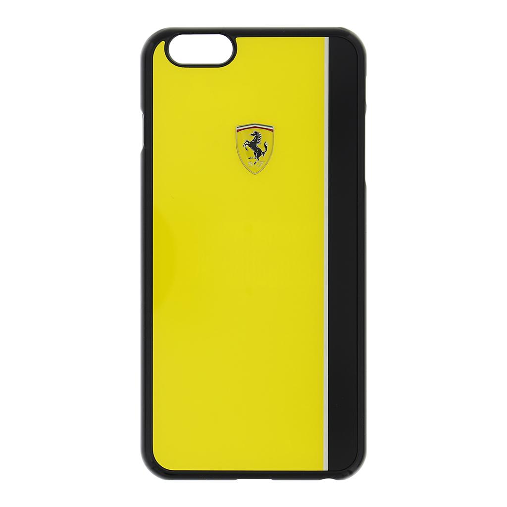 Zadní kryt Ferrari Scuderia Apple iPhone 6/6S Plus FEBKSHCP6LYE žlutočerný