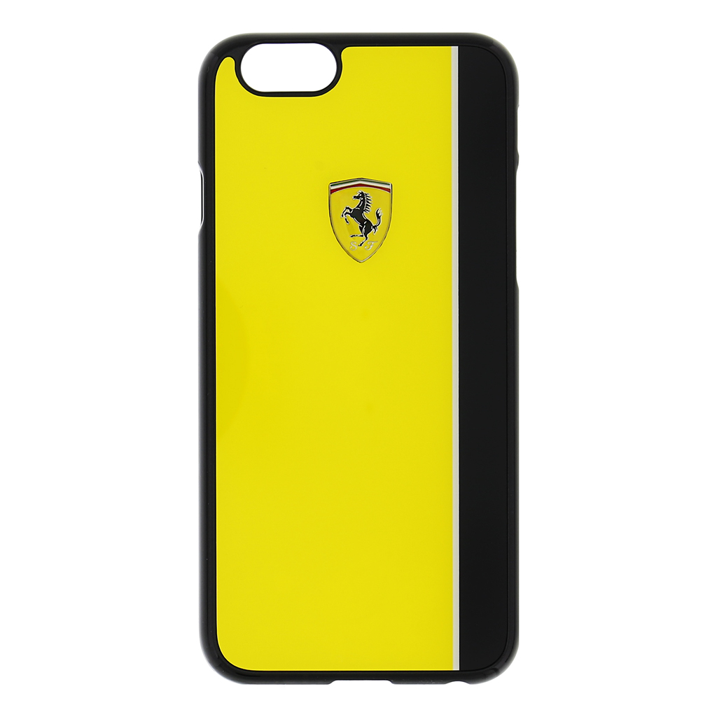 Zadní kryt Ferrari Scuderia Apple iPhone 6/6s FEBKSHCP6YE žluto-černý