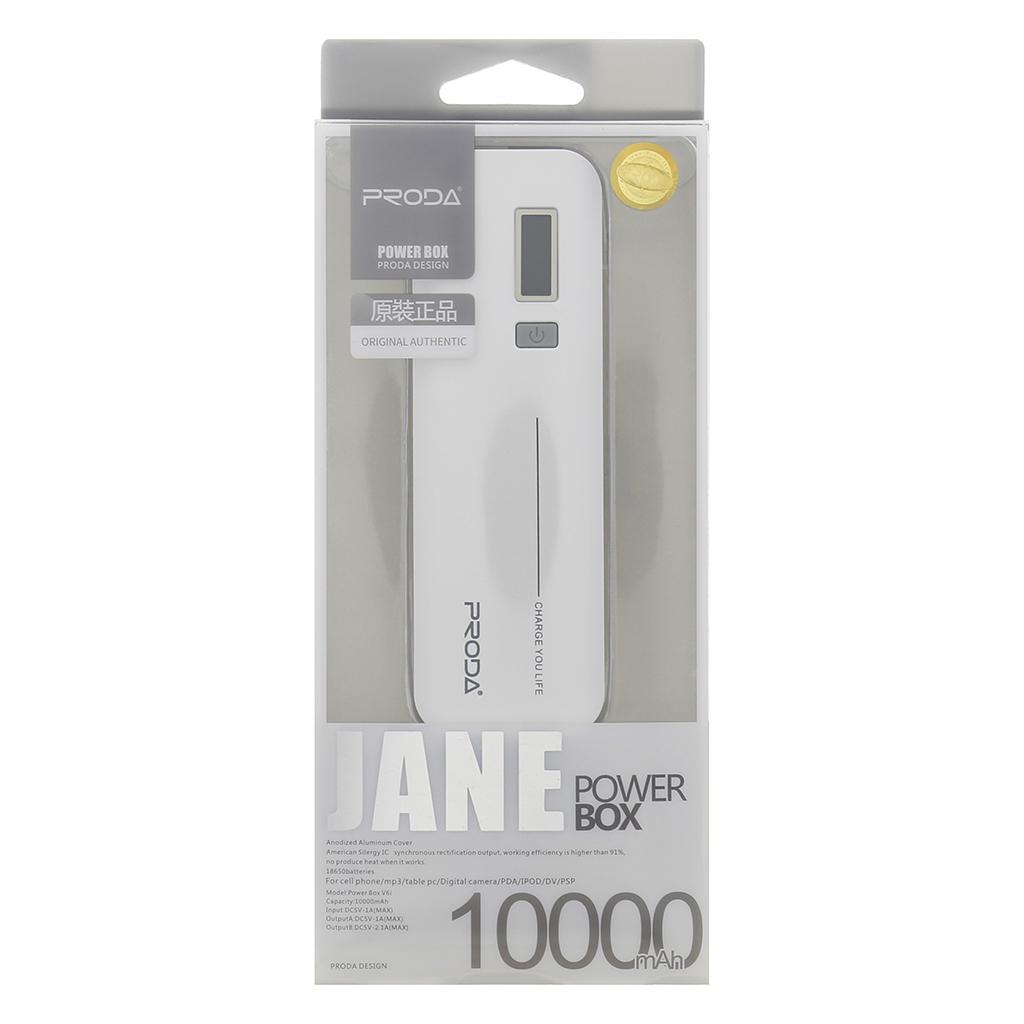 Power Bank Jane V6i Remax 10000mAh Li-Pol bílá (EU Blister)
