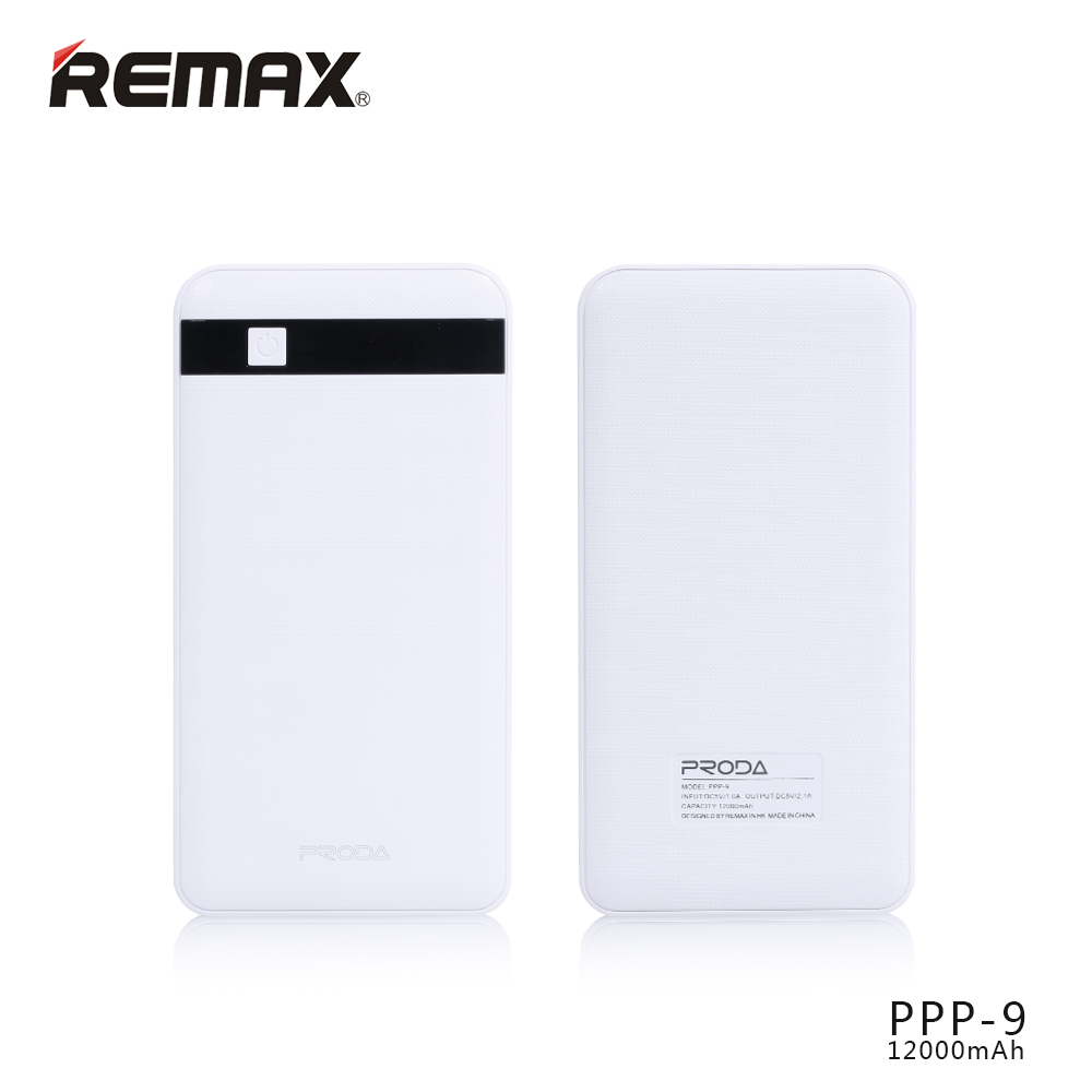 Power Bank Proda MG Remax 12000mAh Li-Pol bílá