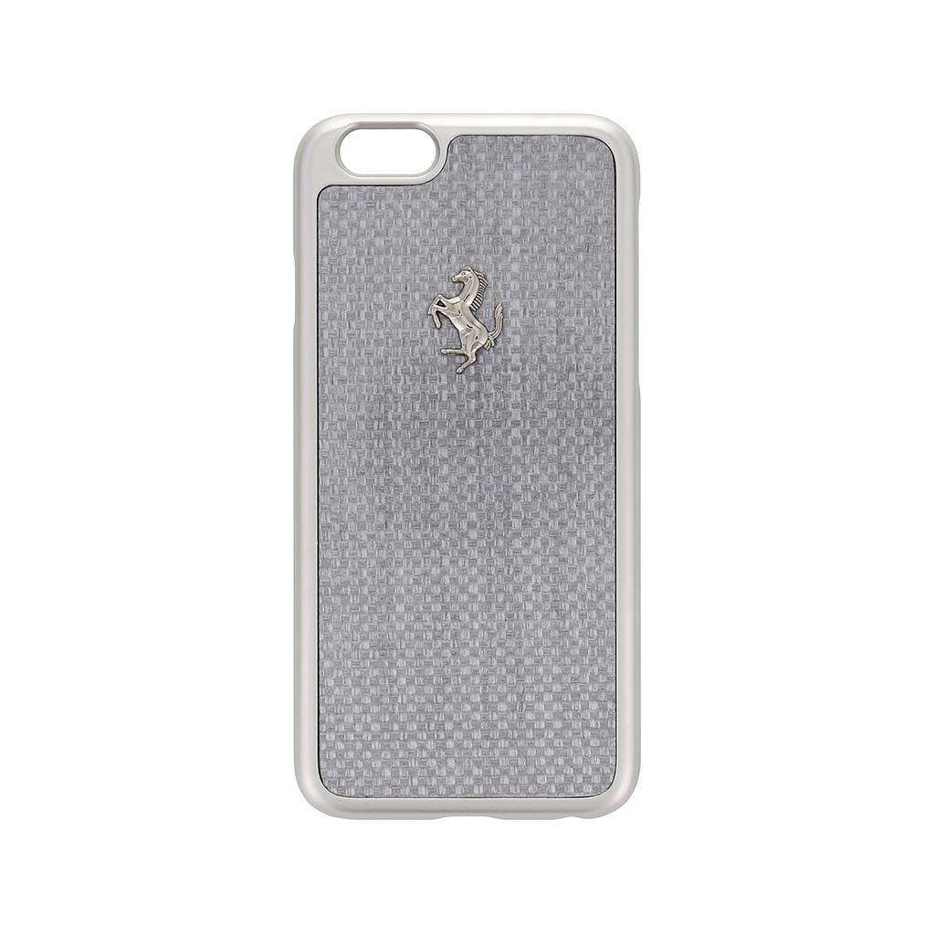 Zadní kryt Apple iPhone 6 FECBSIHCP6WH Ferrari GT Carbon Aluminium stříbrný