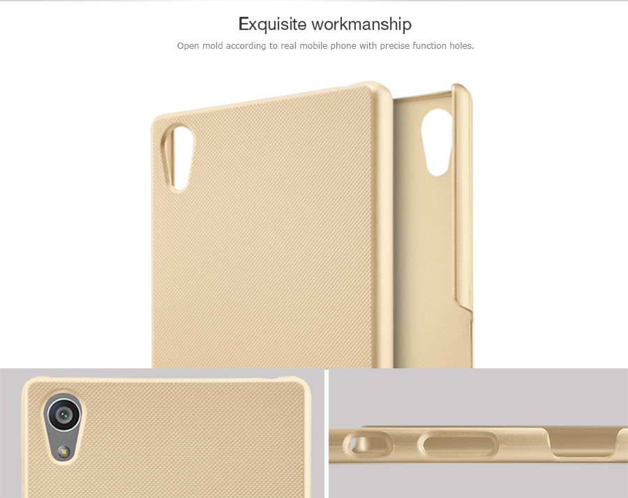 Zadní kryt pro Sony E6853 Xperia Z5 Premium, Nillkin Super Frosted zlatý