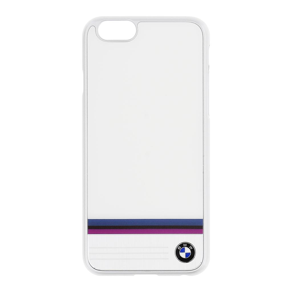 Zadní kryt BMW Stripe Aluminium Hard Case pro iPhone 6/6S BMHCP6TSWH bílé