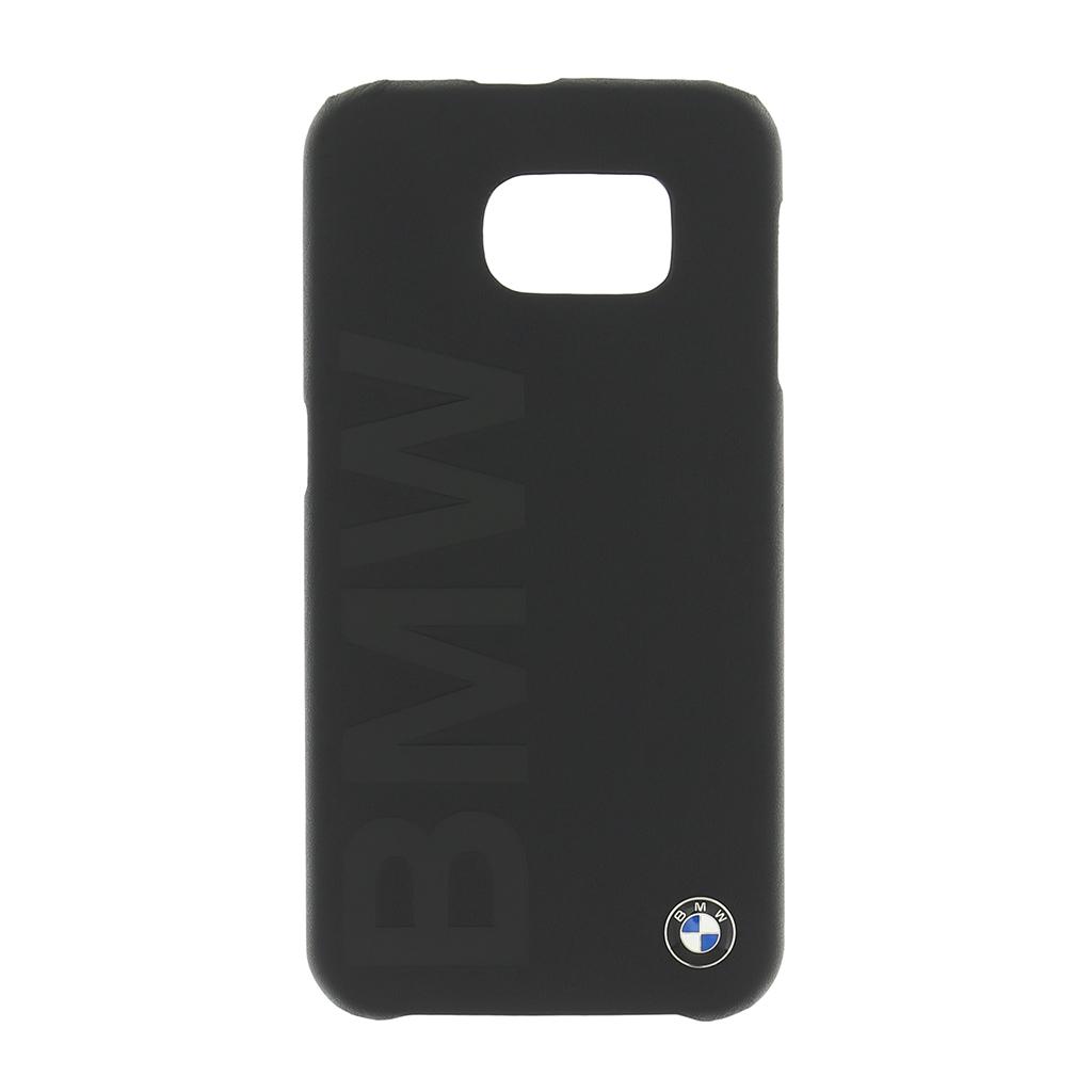 Zadní kryt BMW Signature Hard Case Leather pro Galaxy S6 BMHCS6LOB černé