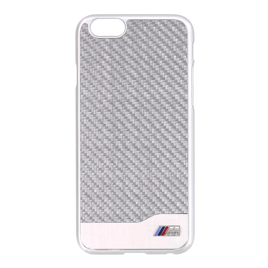 """Zadní kryt BMW Carbon Aluminium pro iPhone 6 4.7"""" BMHCP6MDCS stříbrný"""