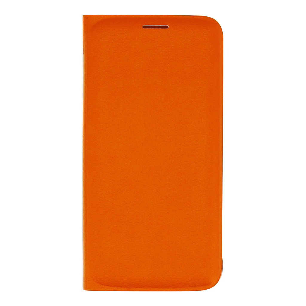 Pouzdro Samsung Wallet pro Samsung Galaxy S6 Edge EF-WG925POE oranžové (EU Blister)