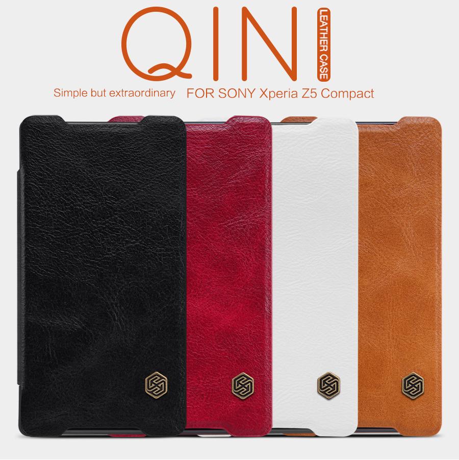 Pouzdro Nillkin Qin Book na Sony Xperia Z5 Compact červené