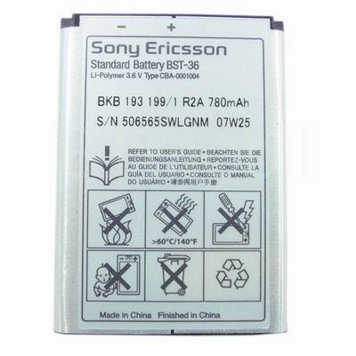 Baterie SonyEricsson BST-36 780mAh Li-Pol (Bulk)
