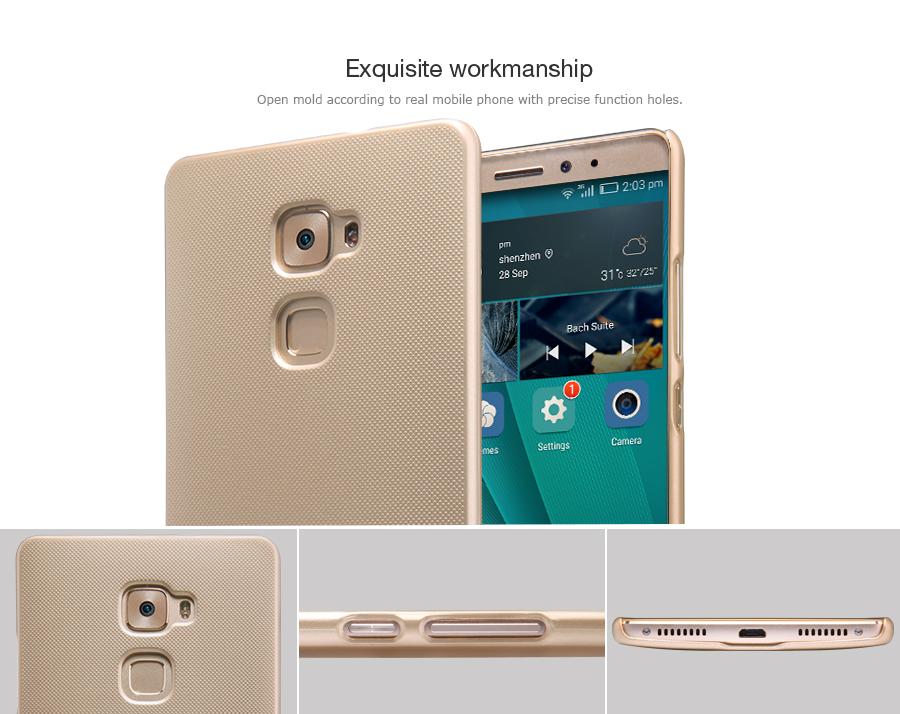Zadní kryt pro Huawei Ascend Mate S, Nillkin Super Frosted zlatý