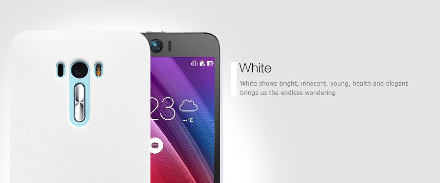 Zadní kryt pro Asus Zenfone Selfie ZD551KL, Nillkin Super Frosted bílý
