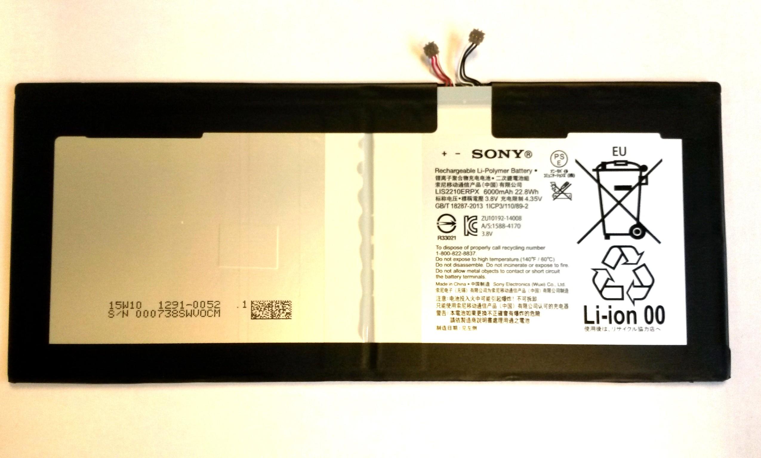 Baterie Sony 1291-0052, 6000mAh 22,8Wh (SGP771) (bulk)