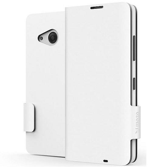 Flipové pouzdro na Microsoft Lumia 550 MOZO Flip Cover Classic, bílé
