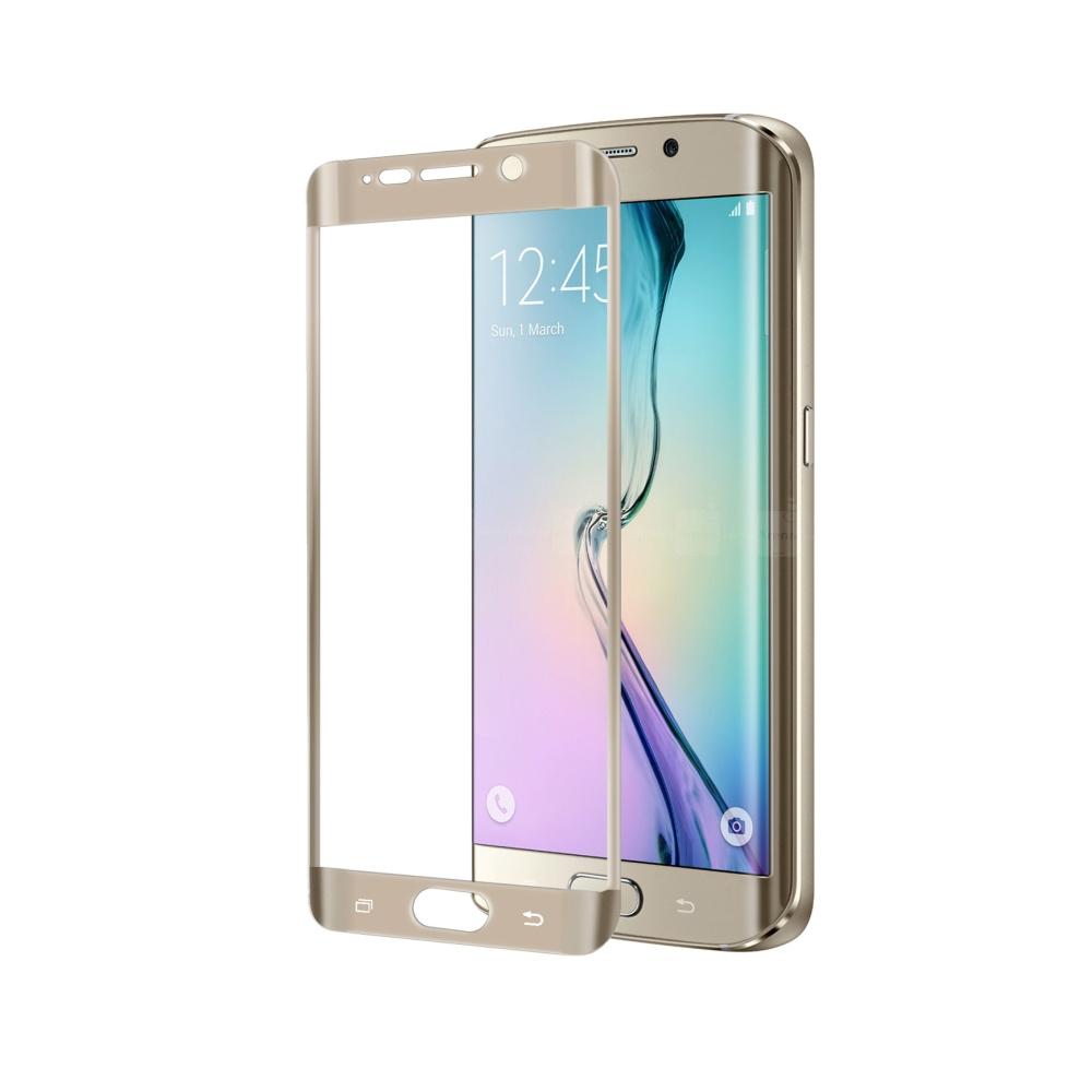 Ochranné tvrzené sklo CELLY Glass pro Samsung Galaxy S6 Edge, zlaté
