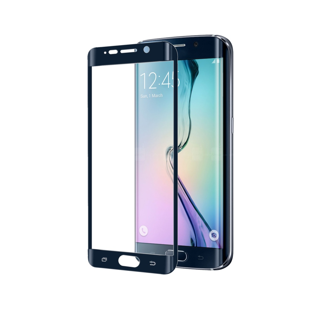 Ochranné tvrzené sklo CELLY Glass pro Samsung Galaxy S6 Edge, černé