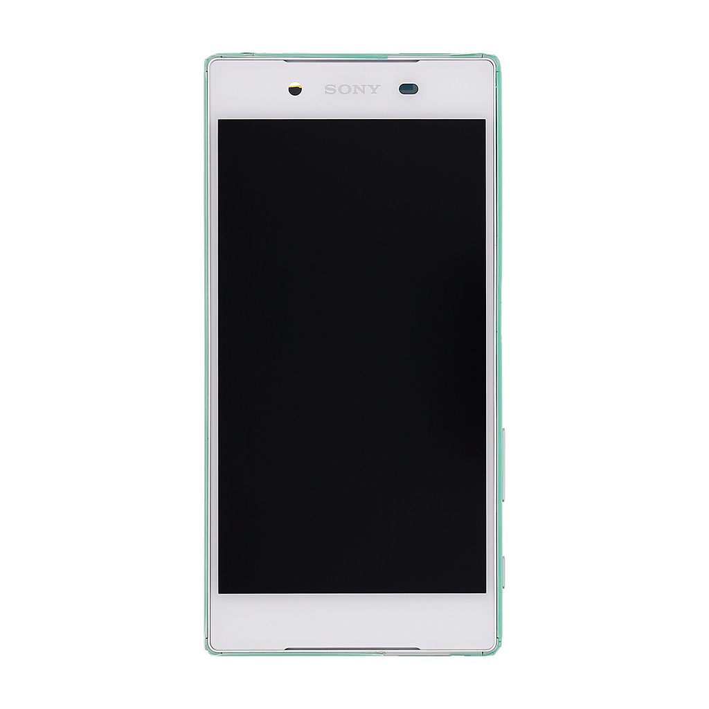 LCD + dotyk. deska + přední kryt pro Sony Xperia Z5 E6653, bílá