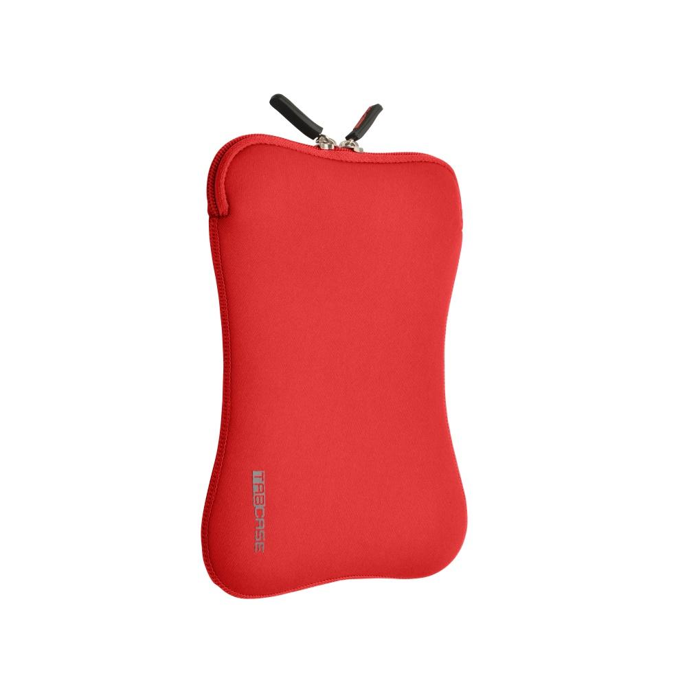 """Pouzdro na zip TABCASE sleeve na 7""""-8"""" tablety červený neoprén"""