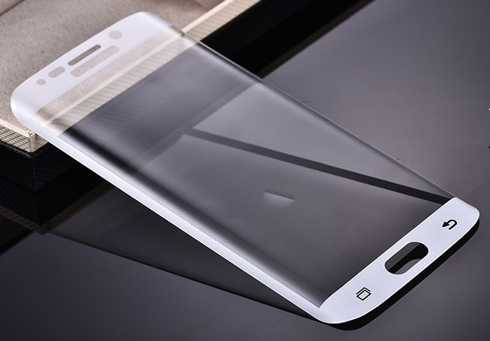 Tvrzené sklo 9H pro Samsung G928 Galaxy S6 Edge+ - zahnuté, bílé