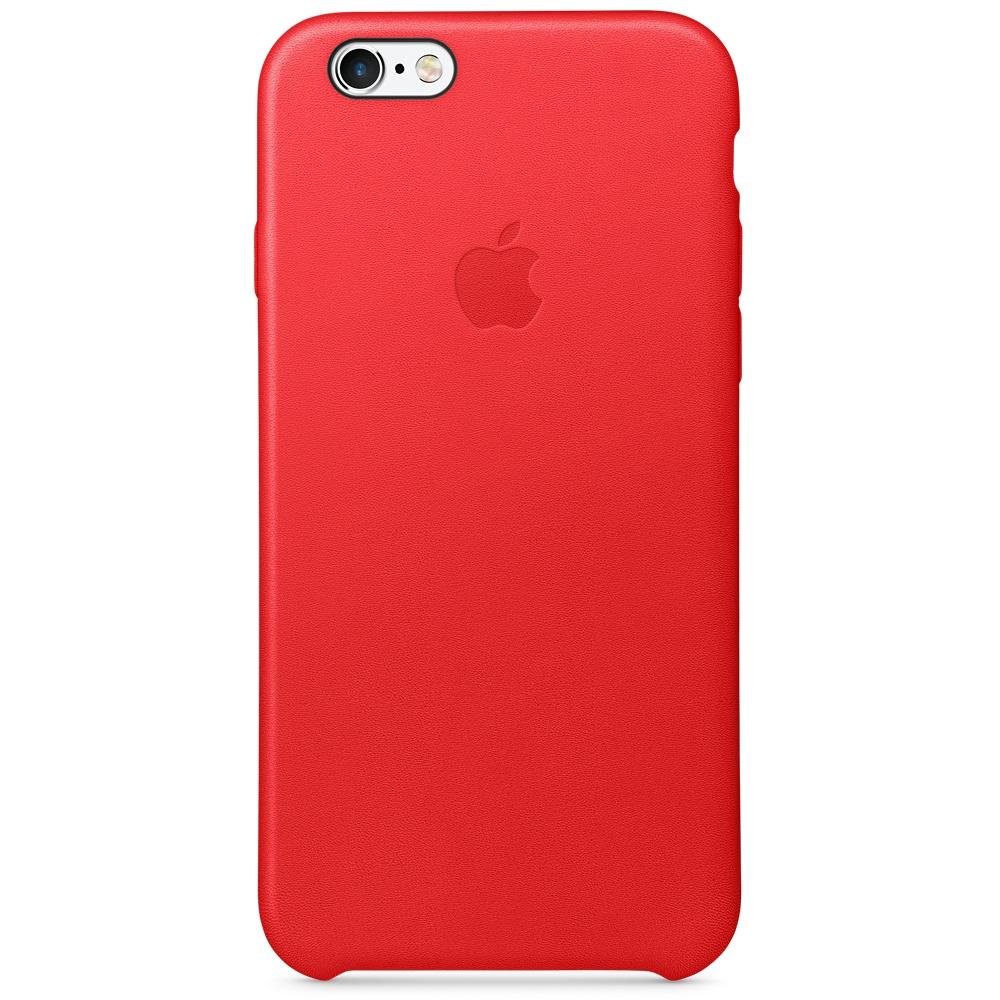 Zadní kryt na Apple iPhone 6s Leather Case červený