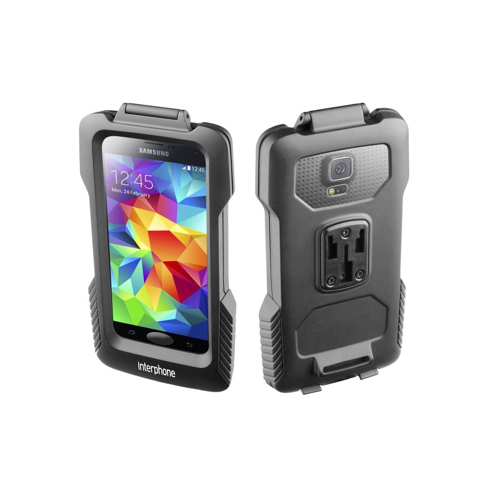 Voděodolné pouzdro Interphone na Samsung Galaxy S5/S5 Neo s držákem černé