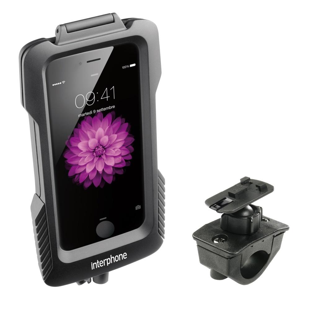 Voděodolné pouzdro Interphone na Apple iPhone 6 Plus s držákem černé