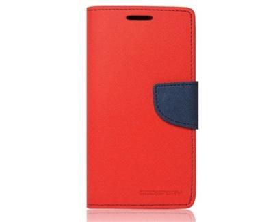 Flipové pouzdro pro Microsoft Lumia 550 Fancy Diary červeno/modré