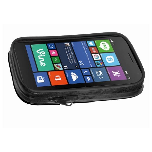 """Voděodolné pouzdro Interphone SM47 na 4,7"""" telefony a GPS s držákem černé"""