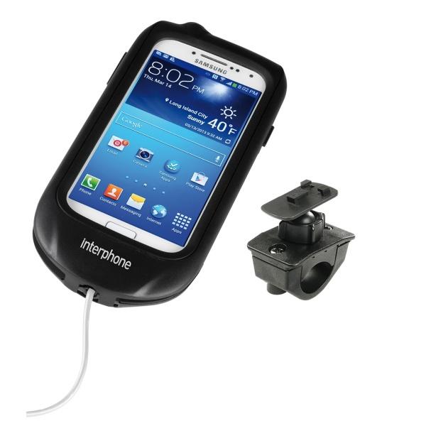 Voděodolné pouzdro Interphone na Samsung Galaxy S4 s držákem černé