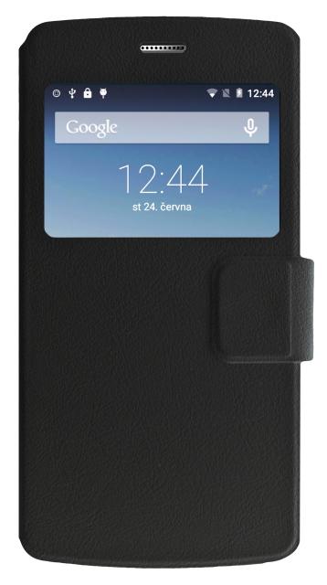 Pouzdro flip S-View na Aligator S5080 DUO LTE Book Folio černé