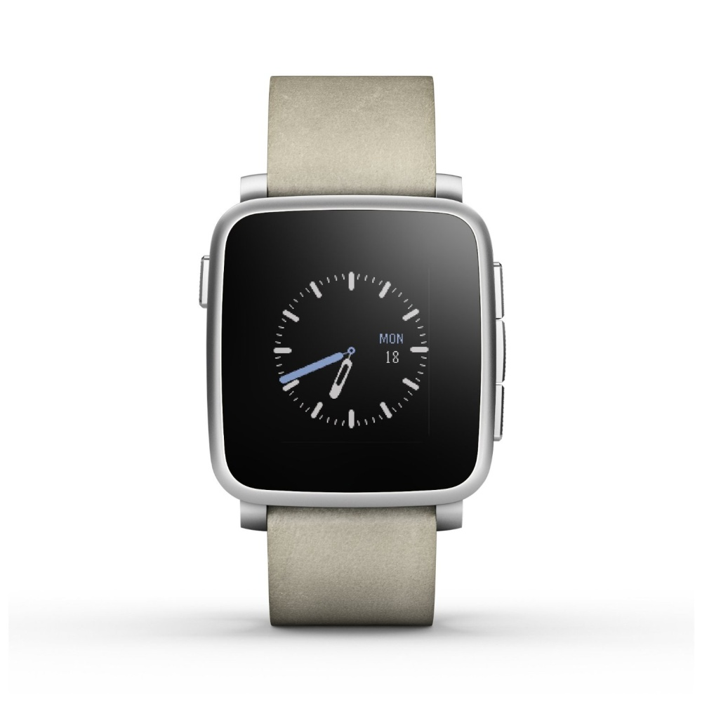 Pebble Time Steel Smartwatch, Silver