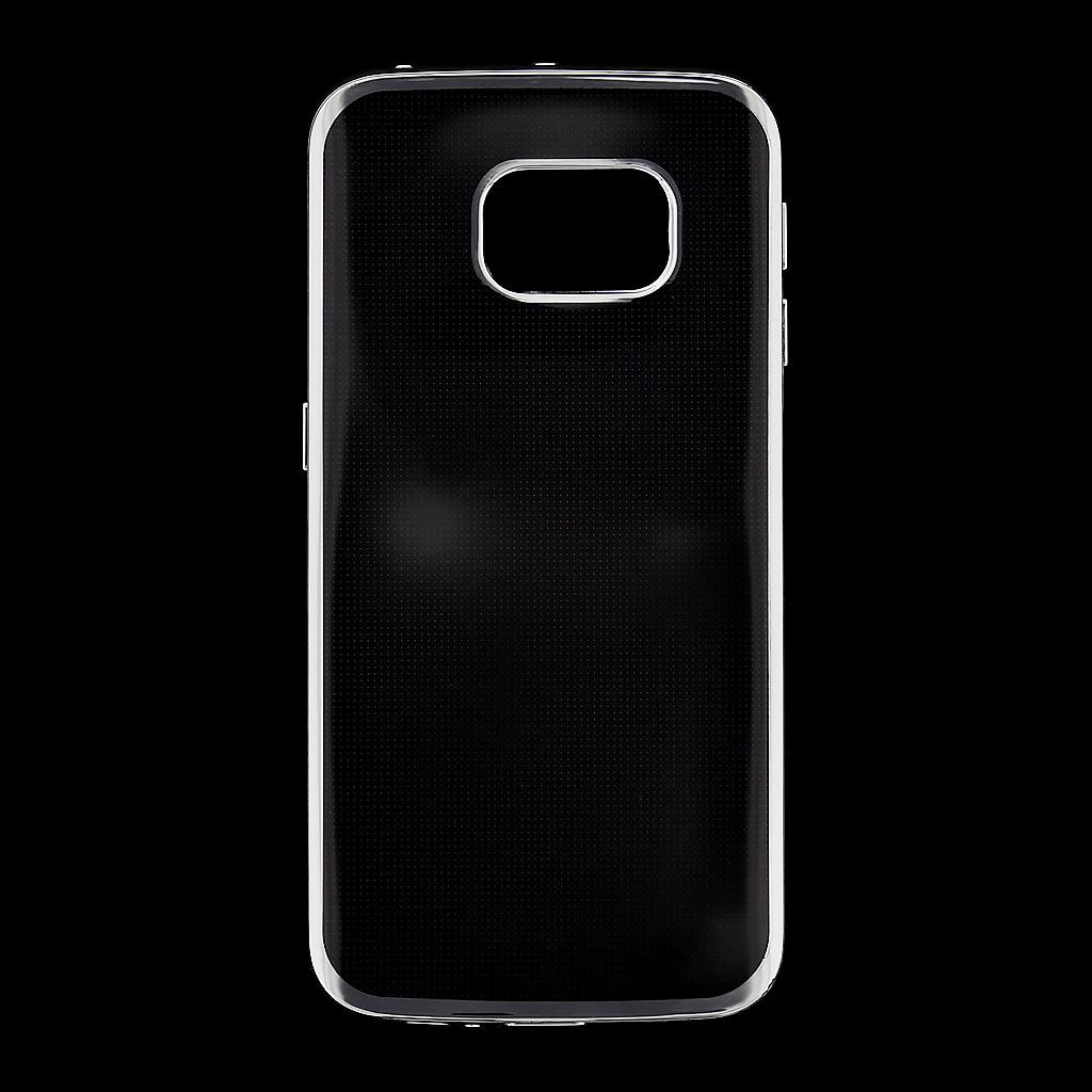 Silikonové pouzdro Kisswill pro Samsung G925 Galaxy S6 Edge Transparent/Silver