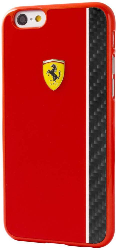 Zadní kryt pro iPhone 6/6S FECBSHCP6RE Ferrari Scuderia Red/Carbon