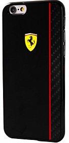 Zadní kryt pro iPhone 6/6S FECBSHCP6RE Ferrari Scuderia Black/Carbon