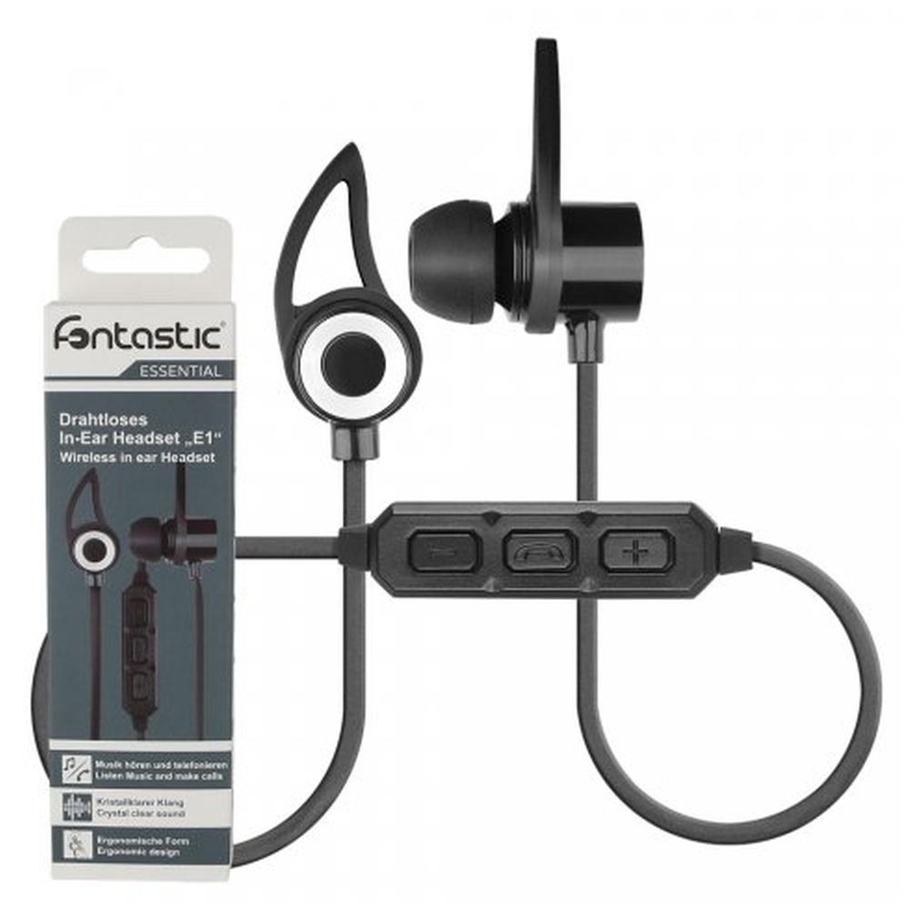 Headset Fontastic ESSENTIAL E1 Bluetooth stereo černý