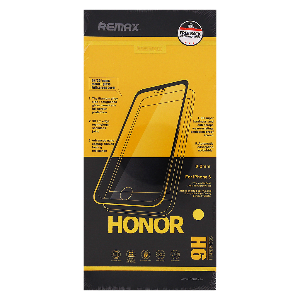 Tvrzené sklo Honor REMAX pro iPhone 6/6S Plus, Rose Gold Gold
