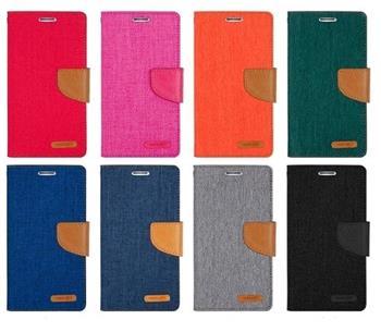 Pouzdro na Samsung Galaxy J1 J100 Mercury Canvas oranžová/hnědá