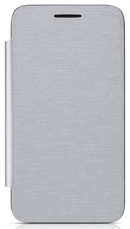 Flip pouzdro na ALCATEL ONETOUCH 4013D Pixi 3 (4) stříbrné